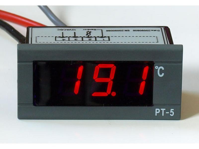 led thermometer rot blau 30 100 c 12v 230v. Black Bedroom Furniture Sets. Home Design Ideas